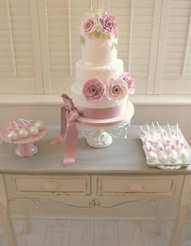 Antique Rose Dessert Table